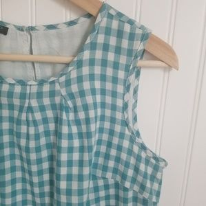 Talbots Gingham Sleeveless Blouse